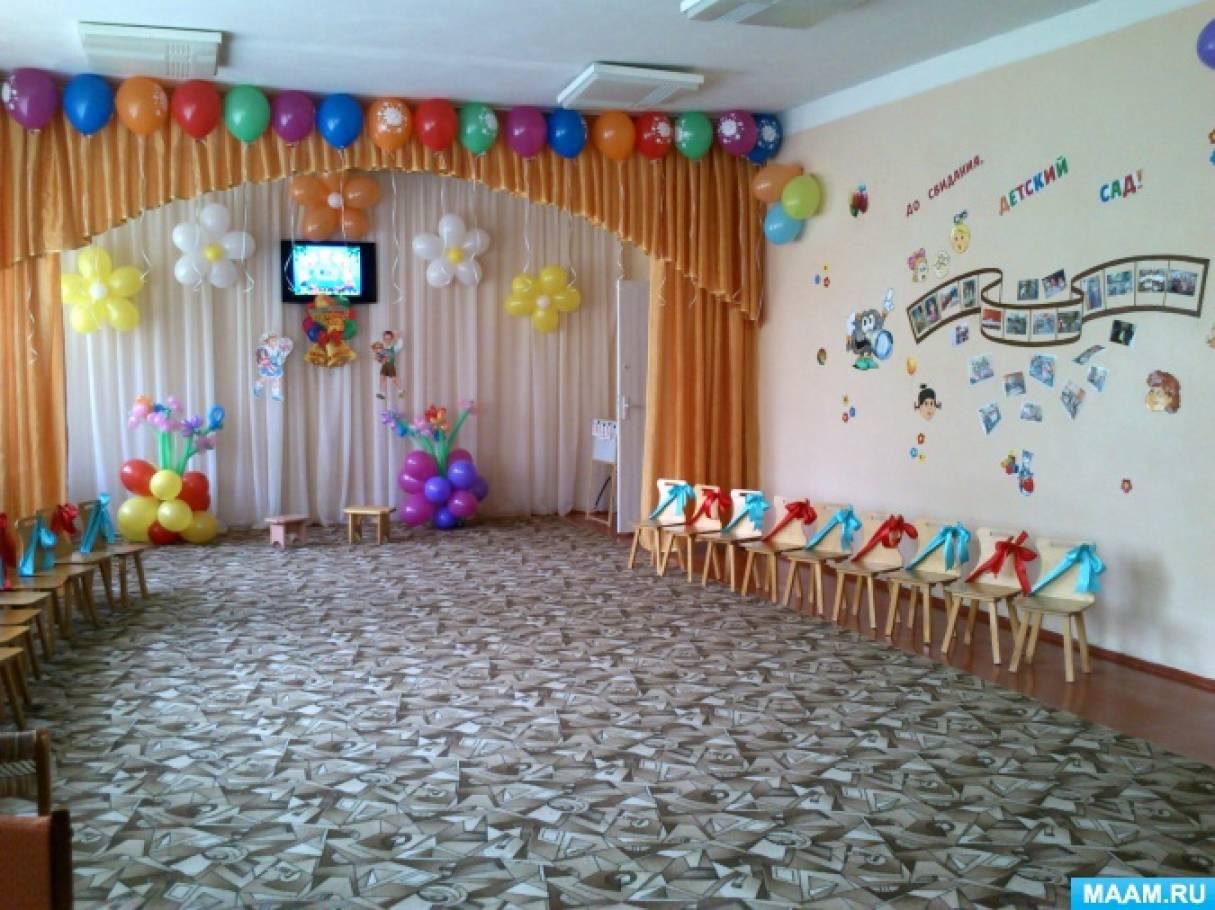 Оформить зал к новому году в детском саду фото