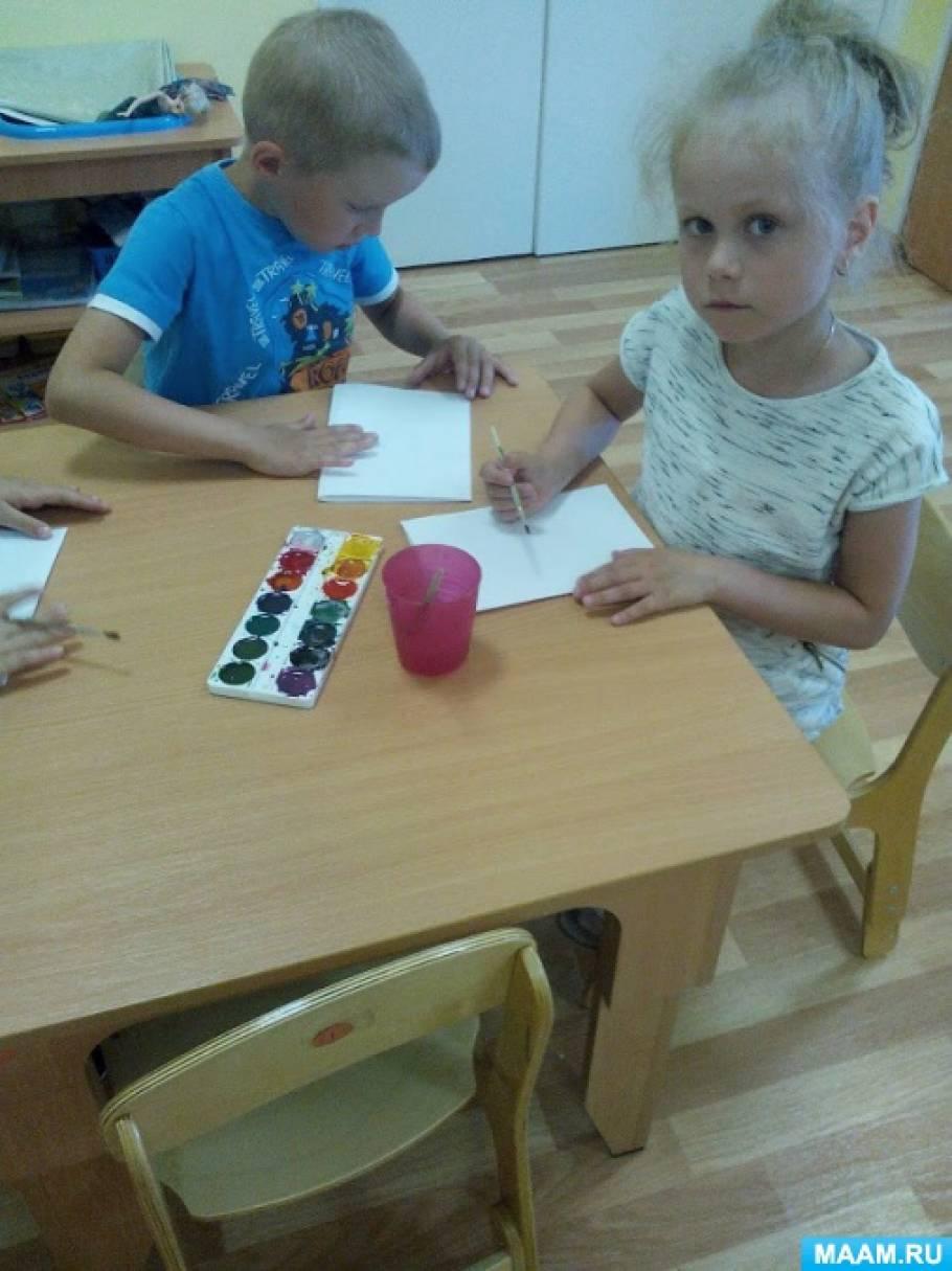 Конспект занятия по изобразительной деятельности для детей старшего дошкольного возраста «Бабочка красавица»