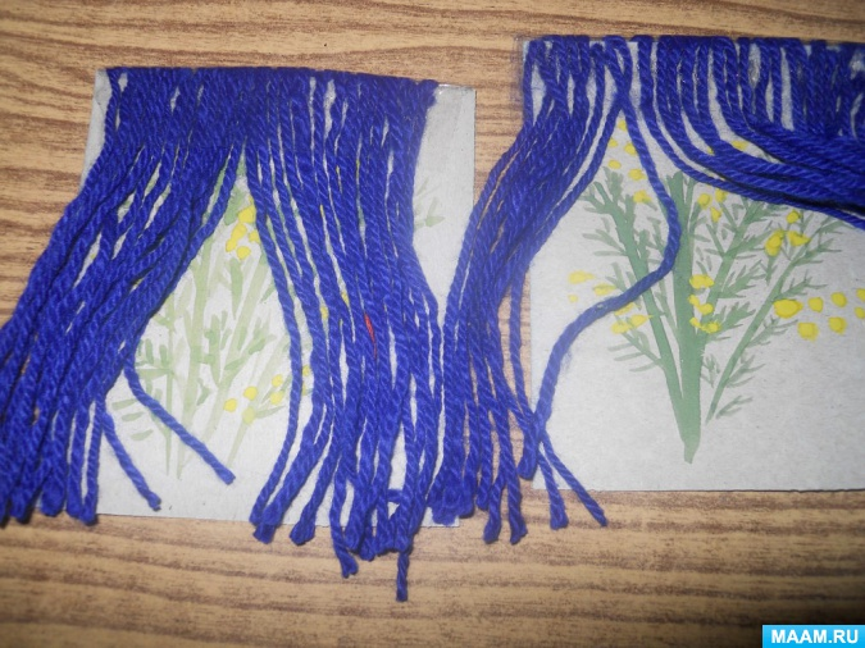 Конспект НОД по рисованию в технике кляксографии для детей старшей группы «Я веточку мимозы маме подарю»
