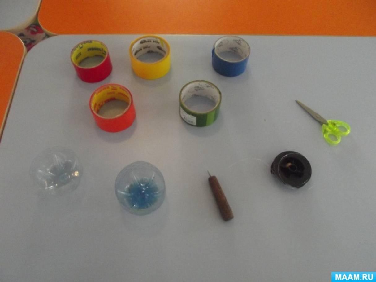 Поделка «Новогодняя игрушка» из пластиковой бутылки, бросового материала