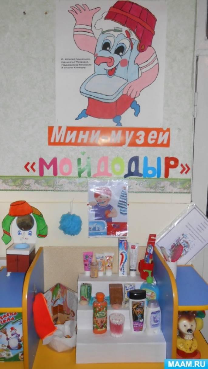 Мини-музей «Мойдодыр» во второй младшей группе