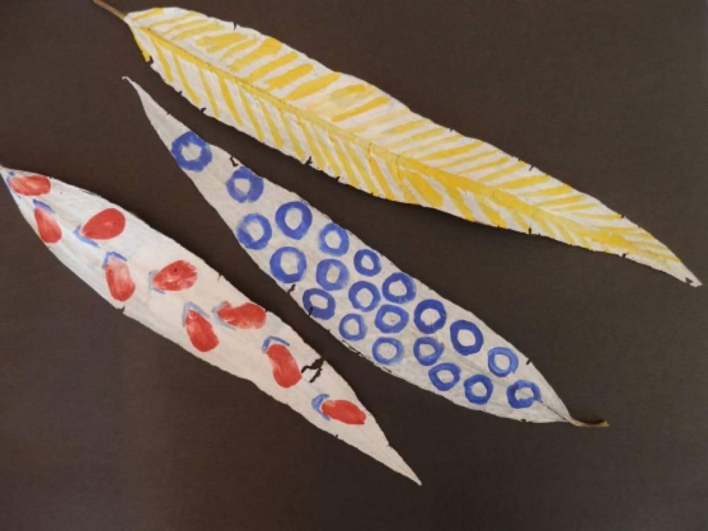 Декоративное рисование на осенних листьях
