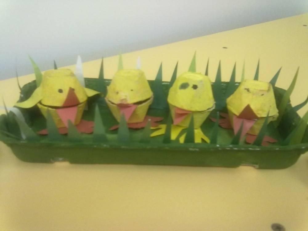 Поделки из бумажного контейнера для яиц 54