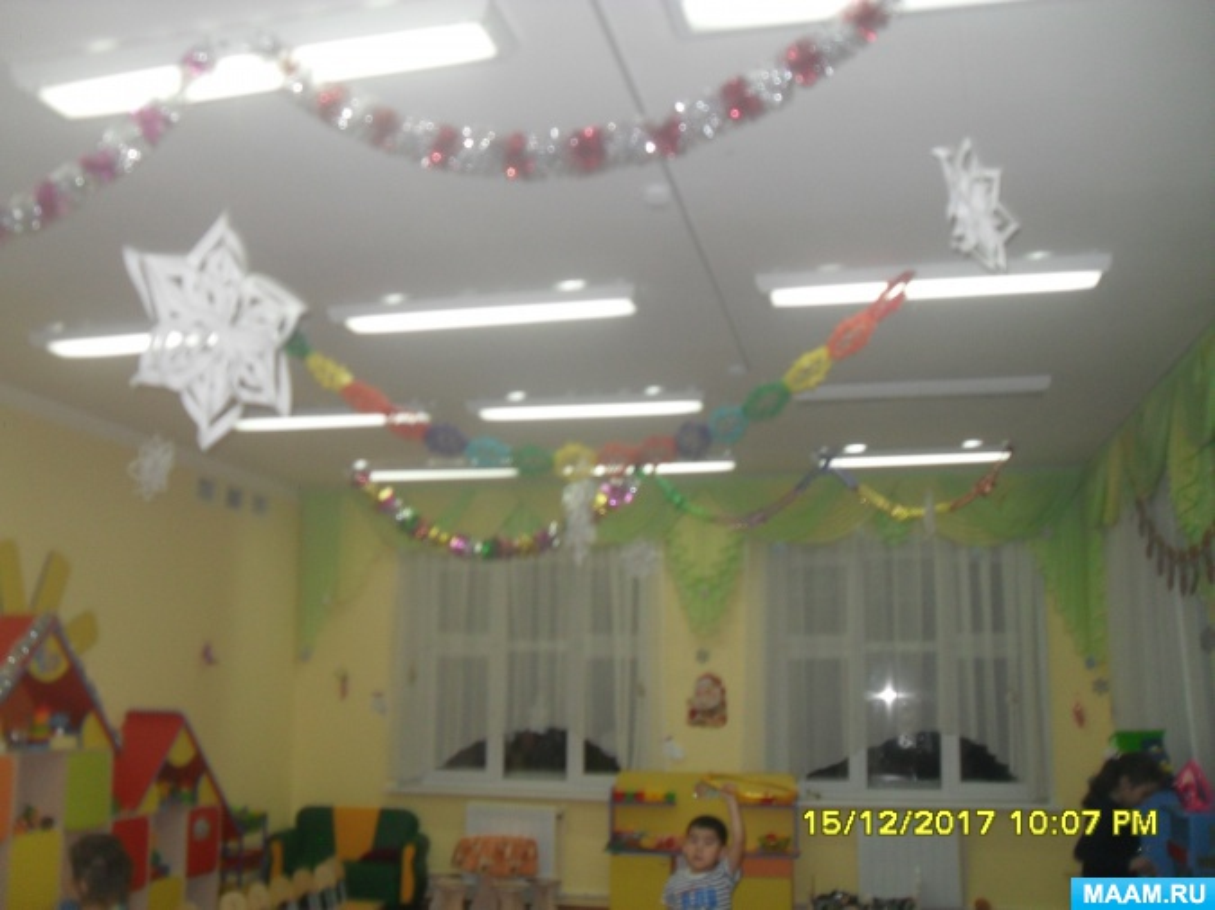 Оформление групповой комнаты к Новогоднему празднику