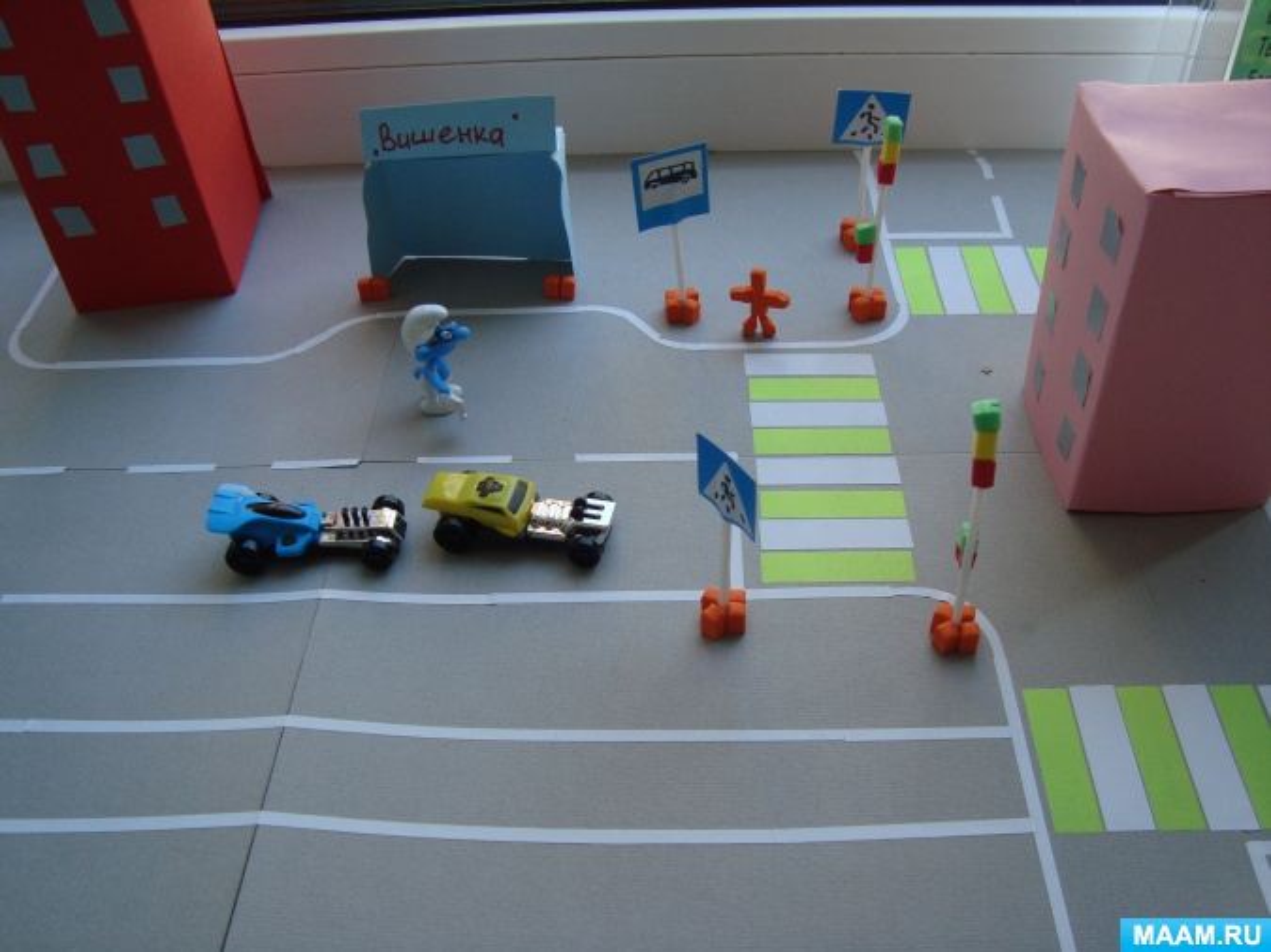 Фотоотчет о выставке макетов родителей и детей «Улица маленьких пешеходов»