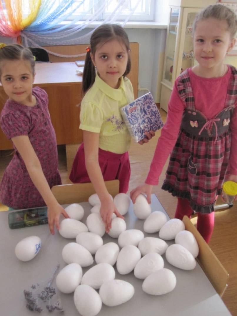 «Рукотворное чудо!» Декупаж пасхальных яиц с детьми подготовительной группы