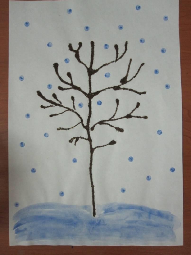 Нетрадиционная техника рисования с детьми среднего возраста «Кофейное деревце»