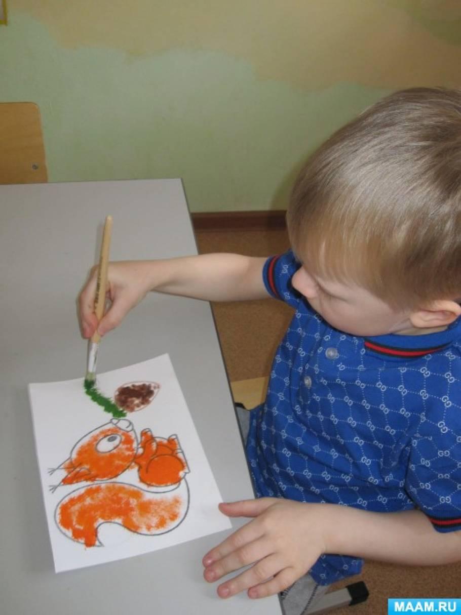 знакомство с различными техниками рисования