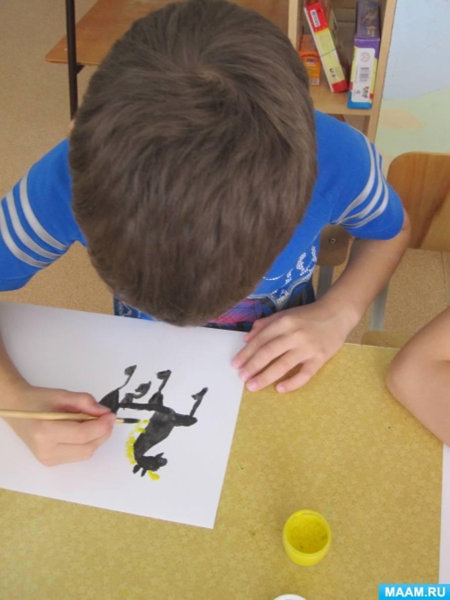 занятие по рисованию знакомство с городецкой росписью
