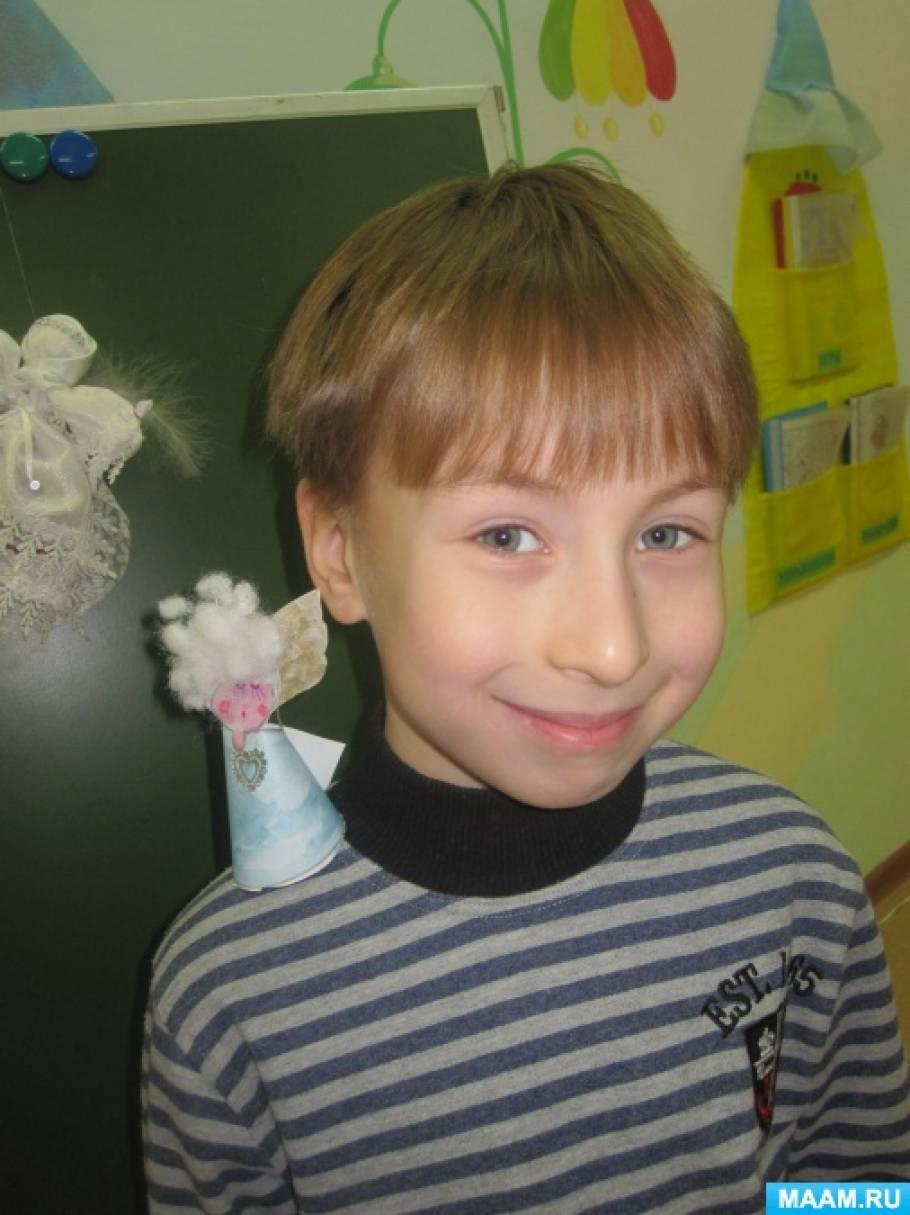 Поделка «Рождественский ангел» для детей подготовительной к школе группы