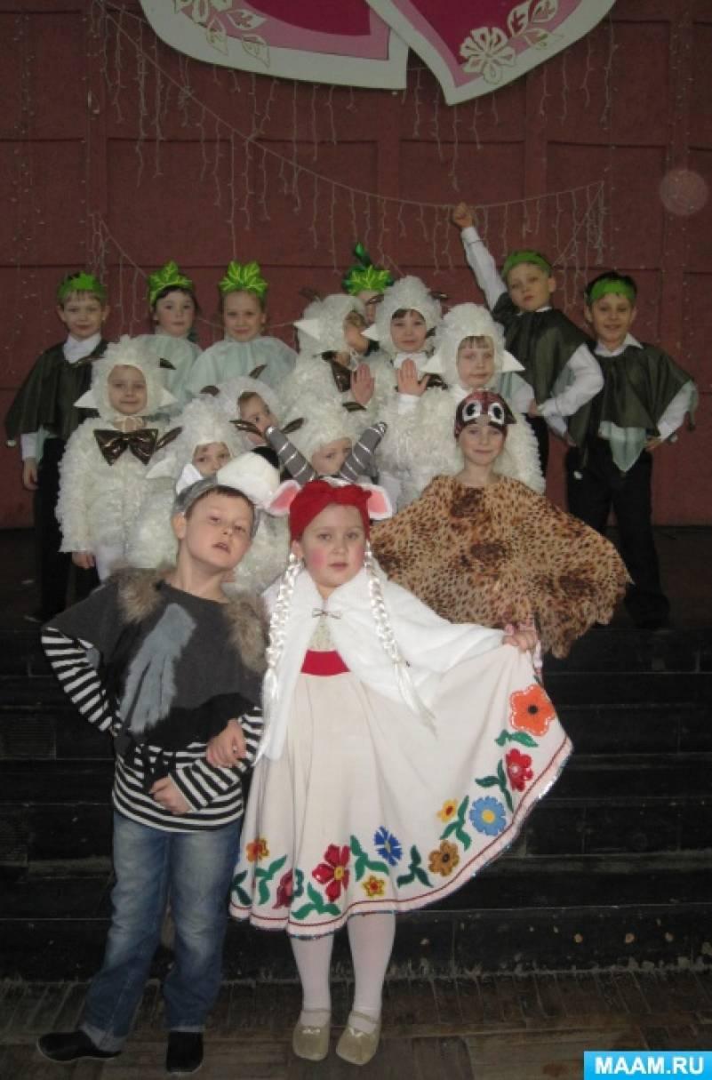 Использование персонажей теневого театра в детских постановках