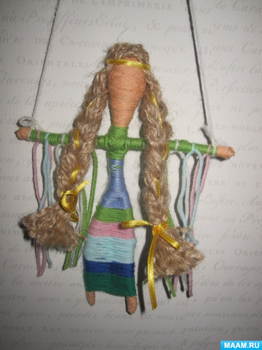Мастер-класс изготовления куклы-мотанки «Ловушка для снов»