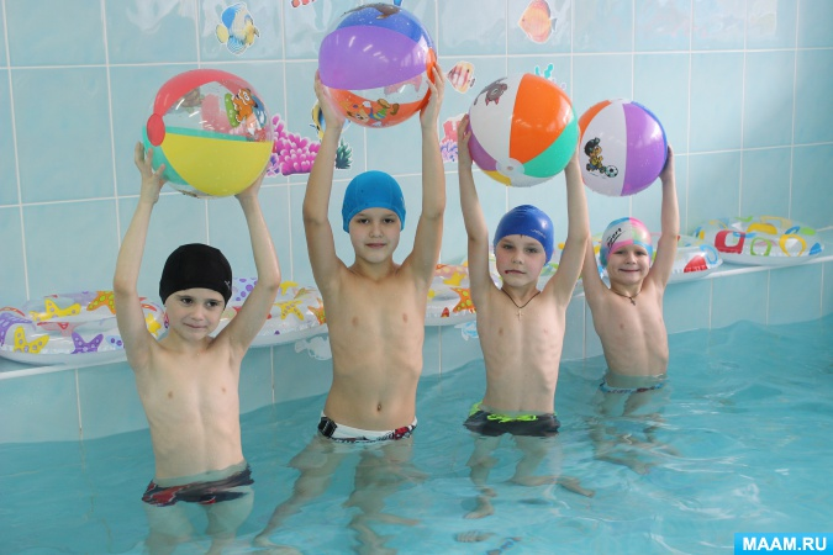 знакомства детей в воде