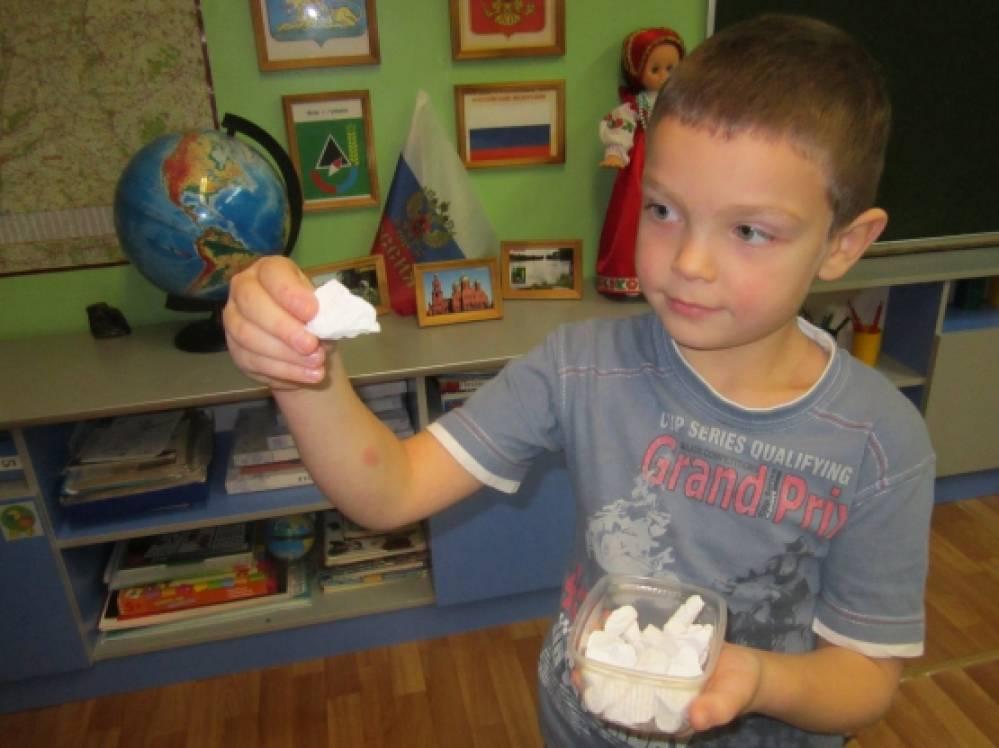знакомство детей со свойствами льда