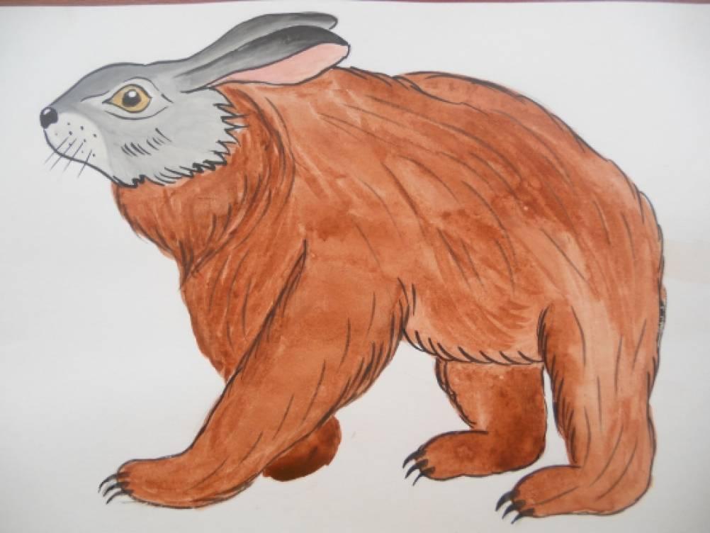 Нарисовать смешное животное и описать его на английском