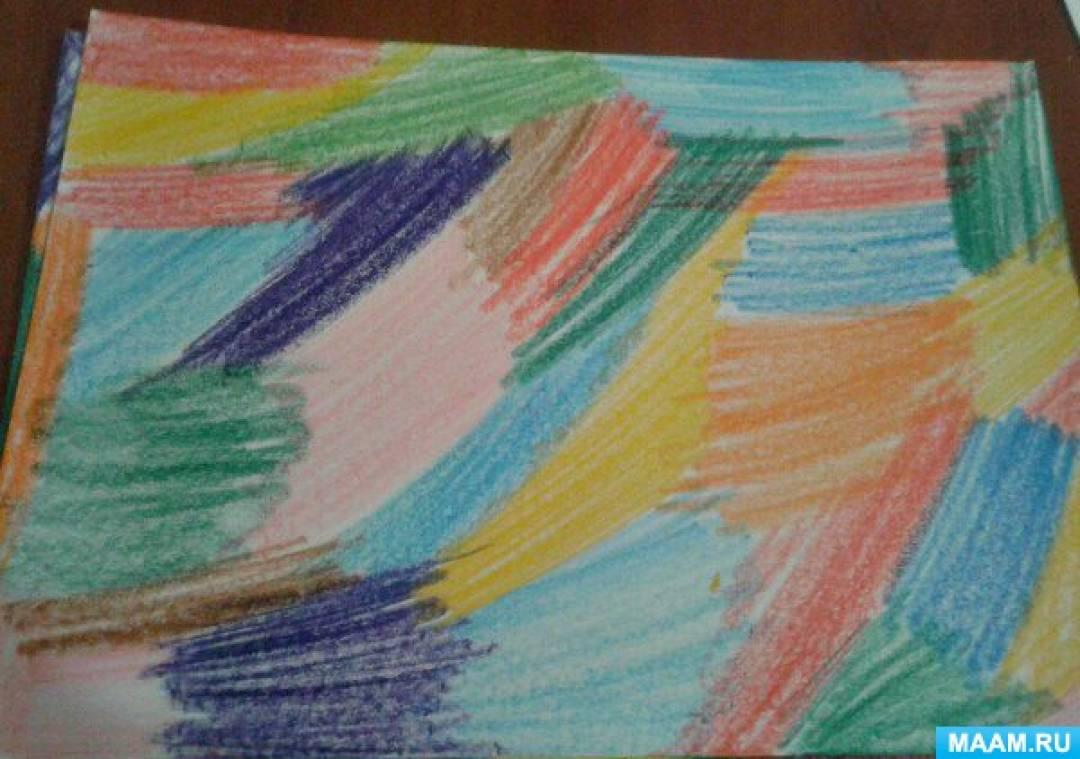 Мастер-класс для воспитателей «Цветной граттаж»