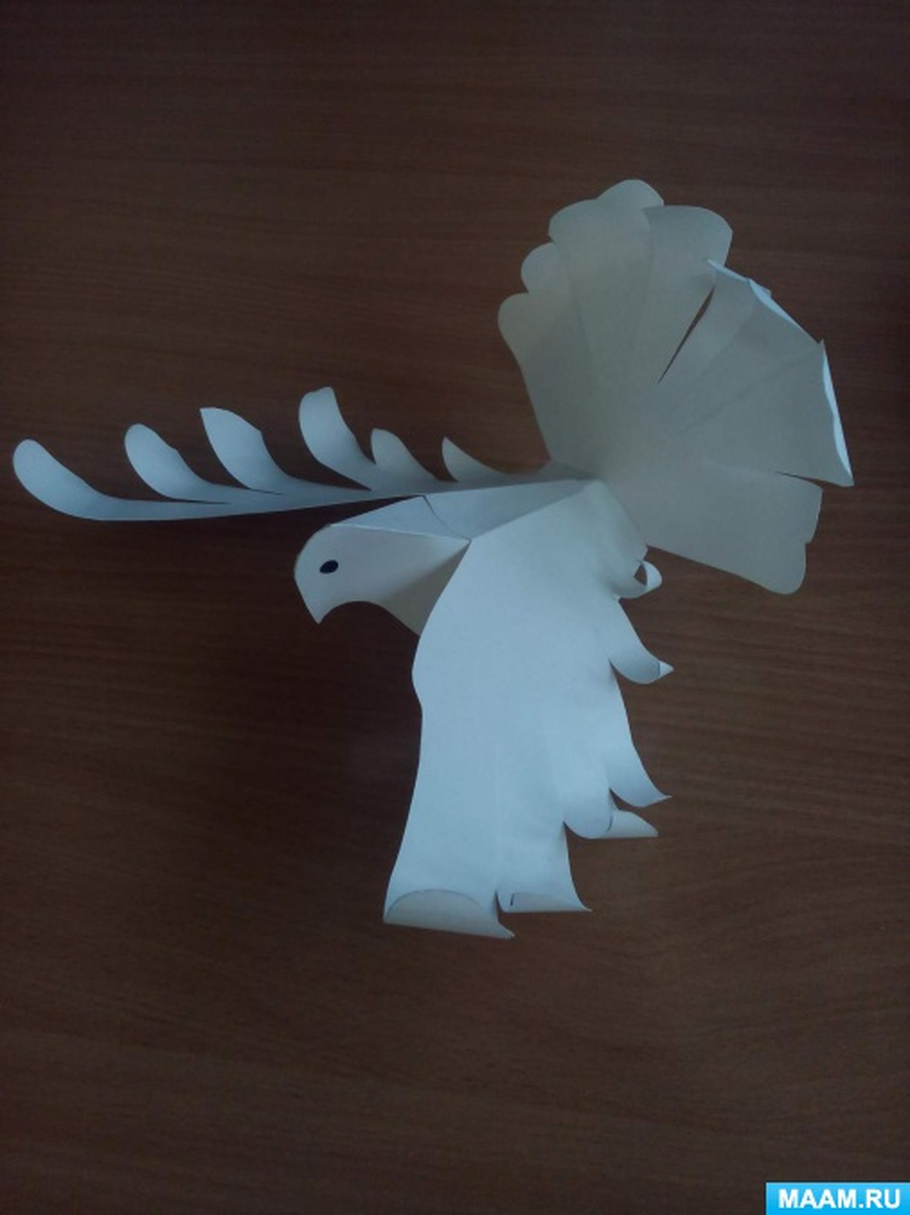 Мастер класс для родителей по конструированию из бумаги «Голубь— птица мира»
