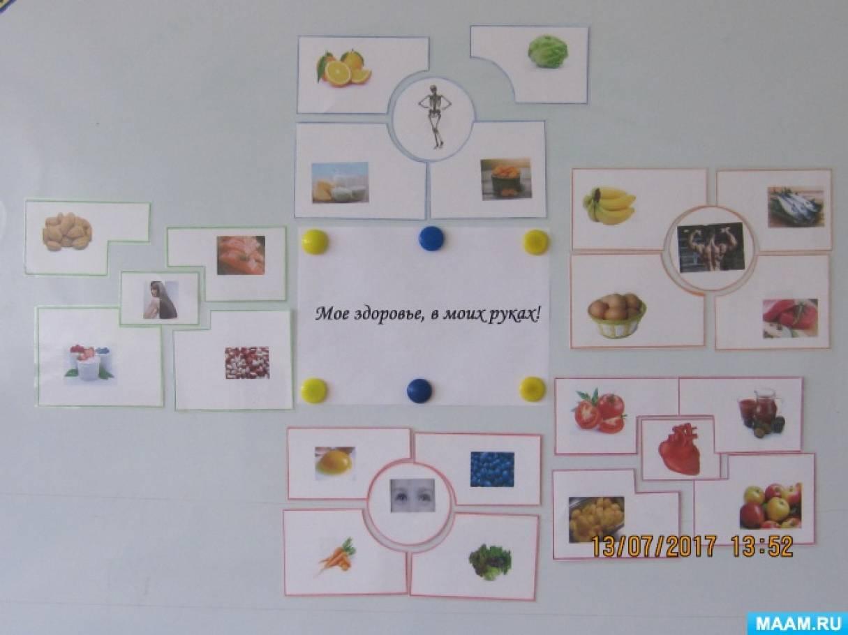 ЗОЖ. Дидактическая игра для детей подготовительной группы детского сада «Моё здоровье в моих руках!»