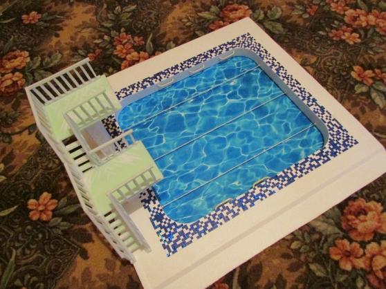 Как можно сделать макет бассейна из бумаги
