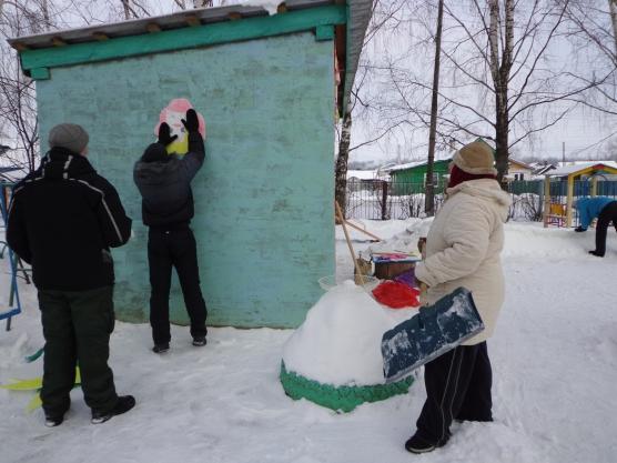 Проект «Оформление зимнего прогулочного участка для детей подготовительной группы»
