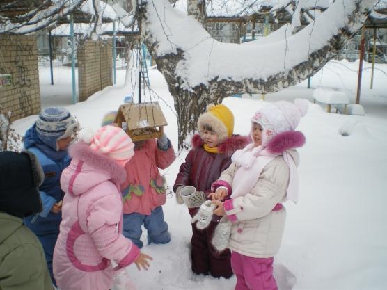 Зимой занятие прогулка с детьми