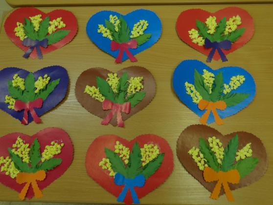 Открытка на 8 марта своими руками в детском саду младшая группа