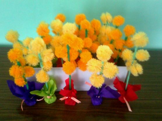 Цветы к 8 марта в детском саду своими руками
