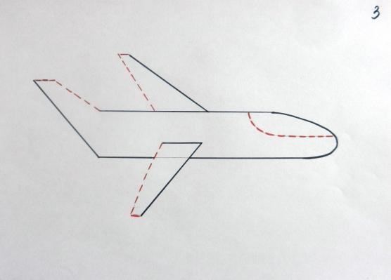 Как рисовать самолет для детей 145