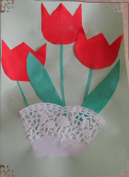 Тюльпаны для мамы открытки