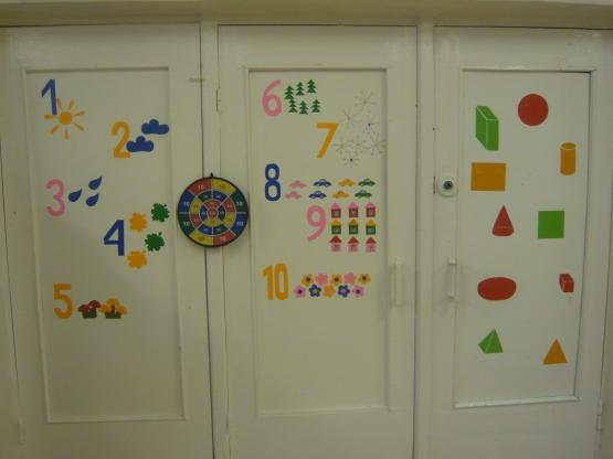 Оформление дверей группы доу