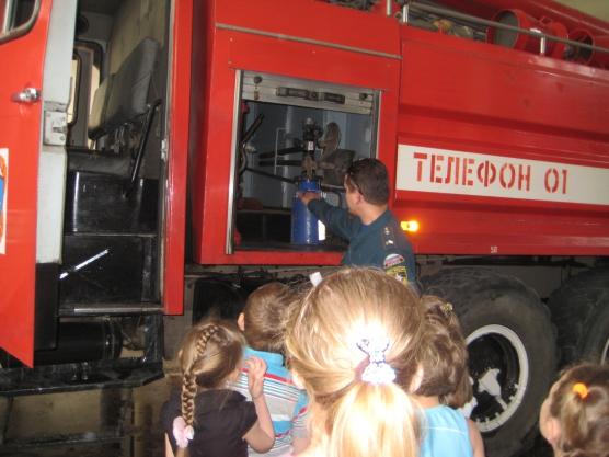 знакомства дошкольников с профессией пожарный