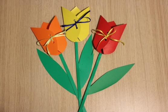 Объёмный тюльпан своими руками
