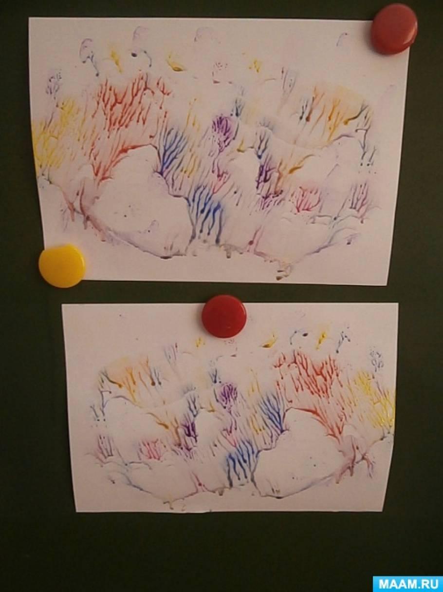 Мастер-класс «Развитие творческого воображения дошкольников с помощью рисования кефирными красками»