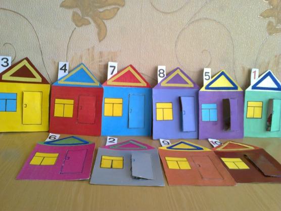 Авторская дидактическая игра «Необычные домики»