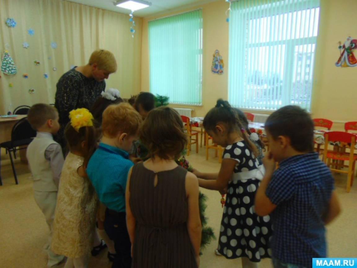 Занятие по обучению детей работе с фольгой «Зимний парк Деда Мороза»