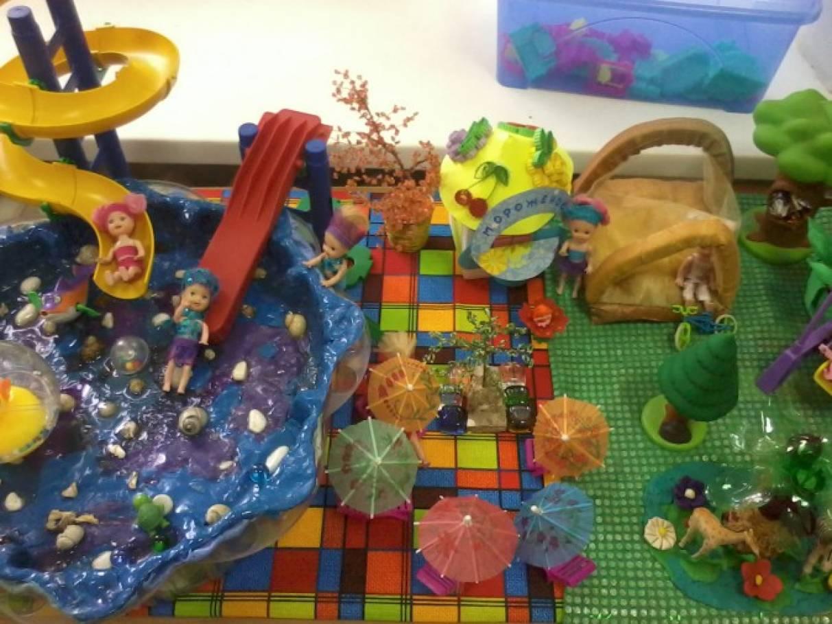 Фотоотчет создания макета «Детский сад моей мечты».