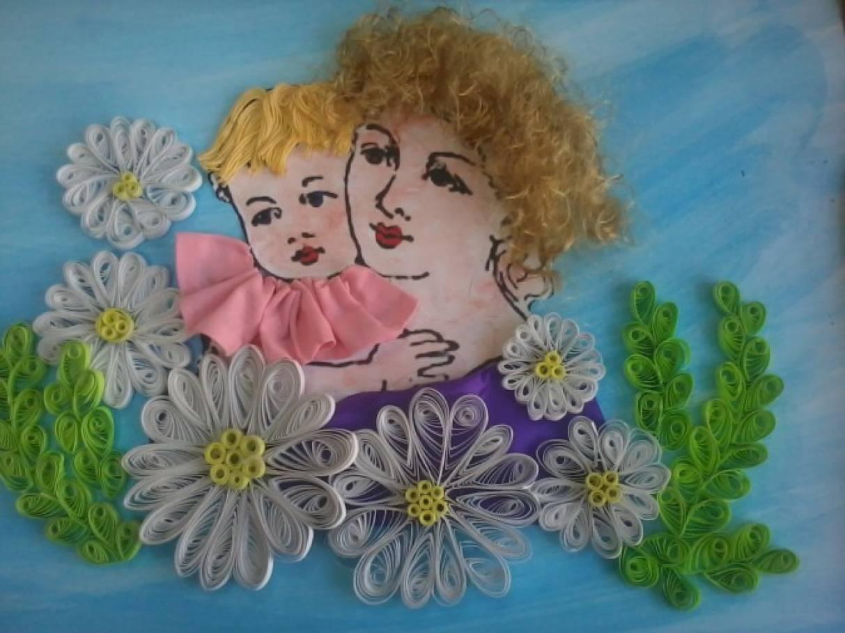 Поделки и рисунки маме на 221