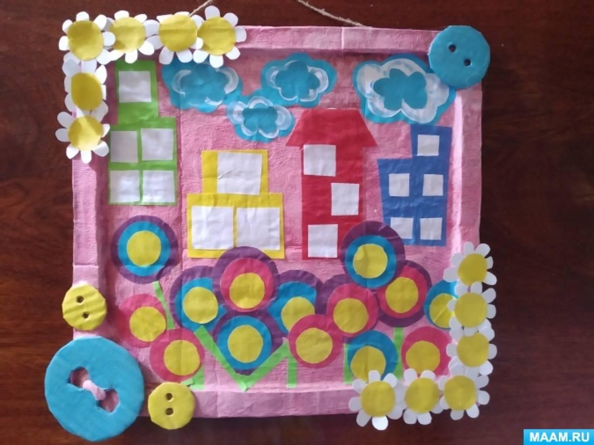 Коллективная аппликация из цветной бумаги для детей 2–4 лет «Весенняя сказка»