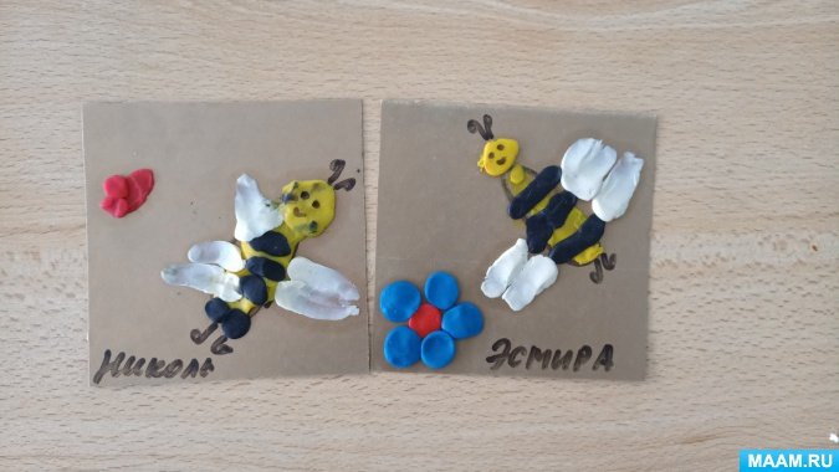 Конспект НОД по лепке-пластилинографии в младшей группе «Золотая пчелка»