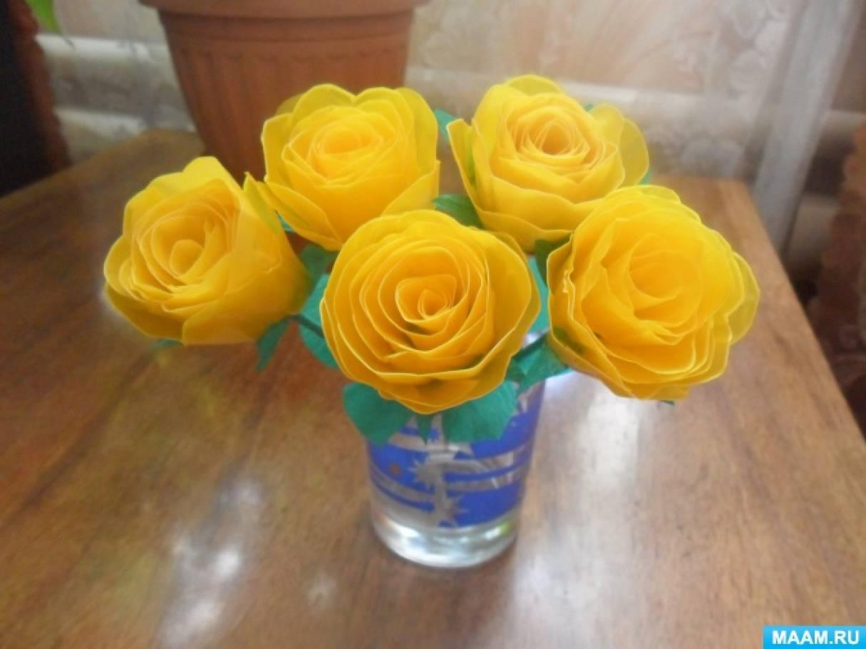 Мастер-класс «Цветы из яичных контейнеров»
