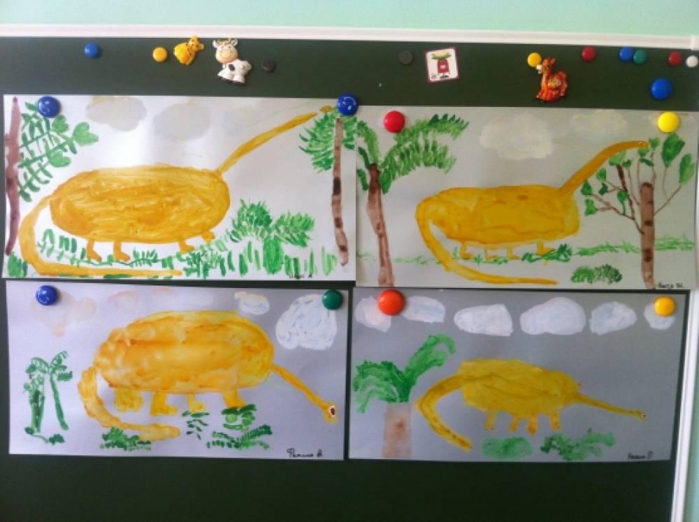 «Вымершие животные». Занятие по изобразительной деятельности в детском саду