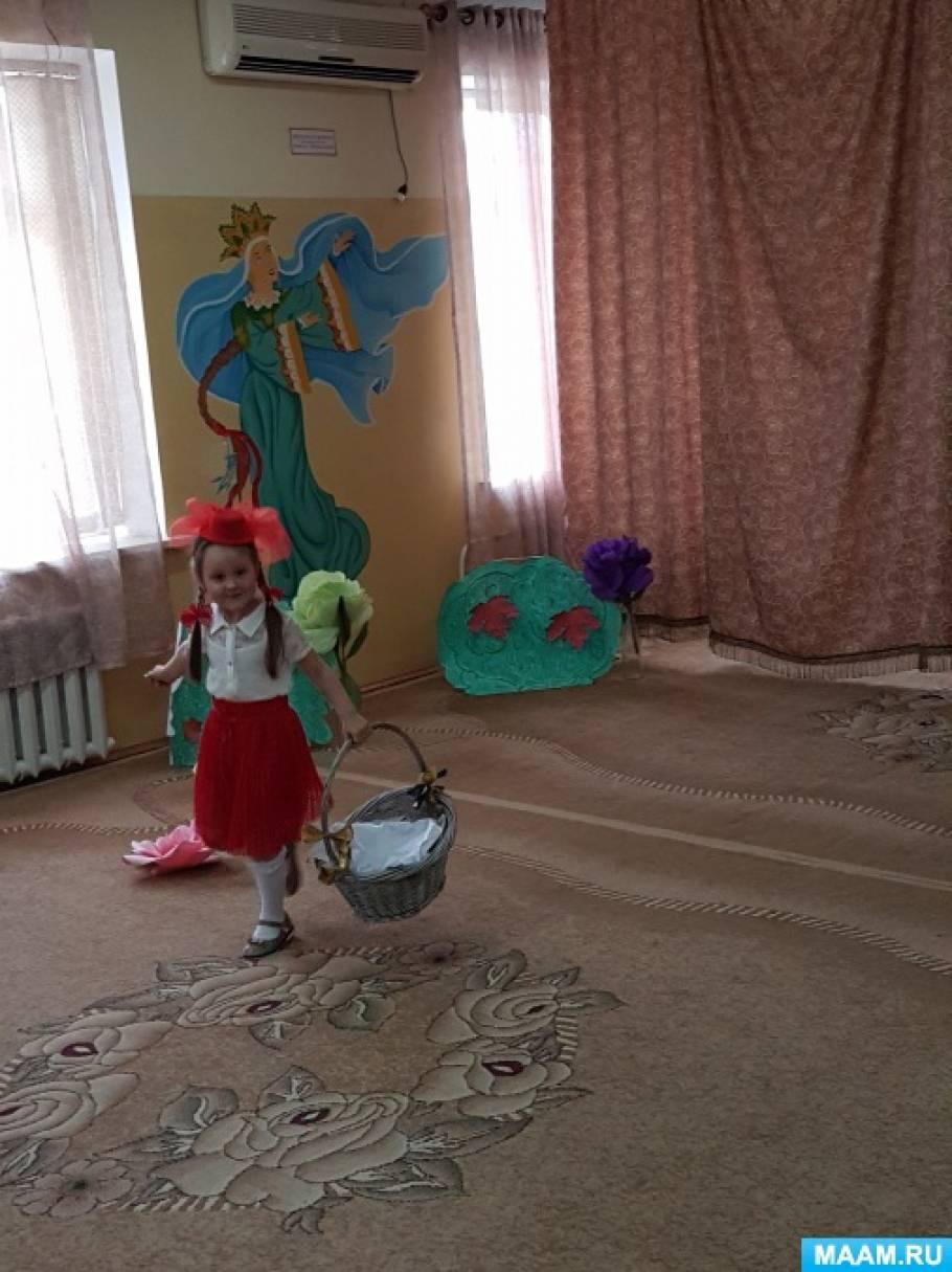 Сценарий театрализованного представления для детей средней группы «Красная Шапочка» (на новый лад)