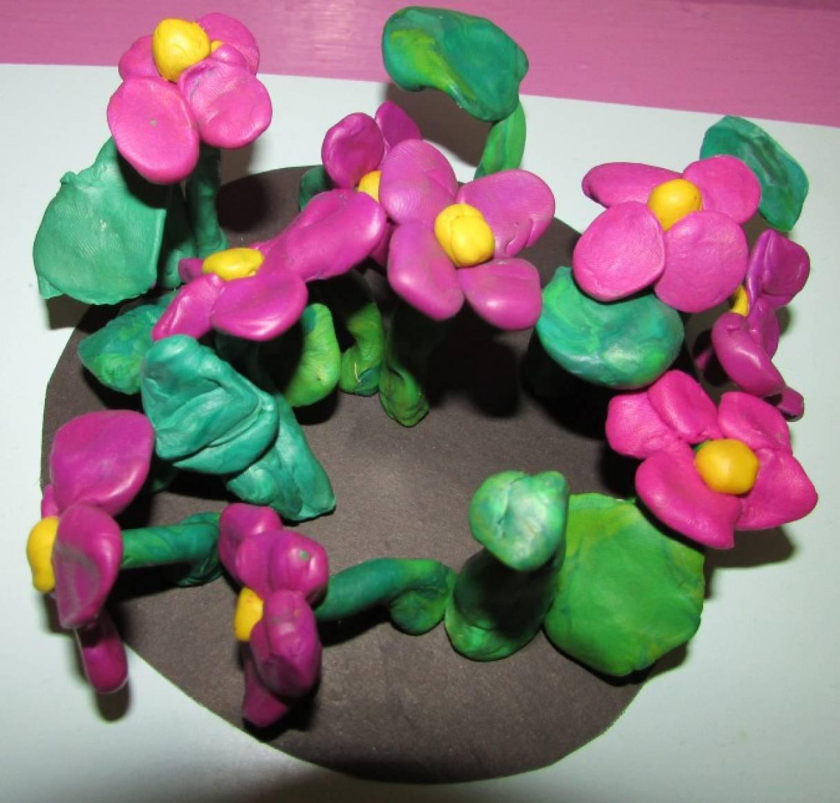 пластилинография фото цветы садовые такие