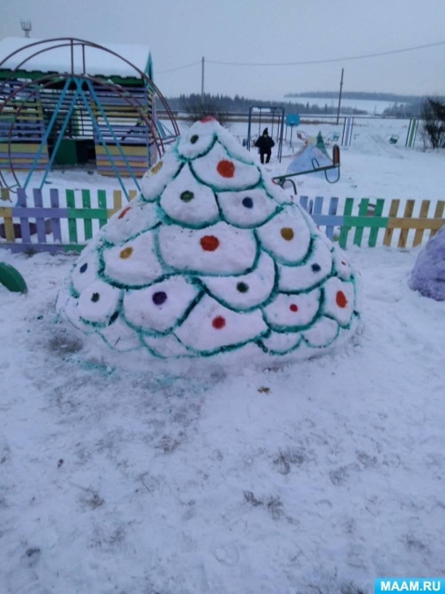 Фотоотчет «Постройки из снега»