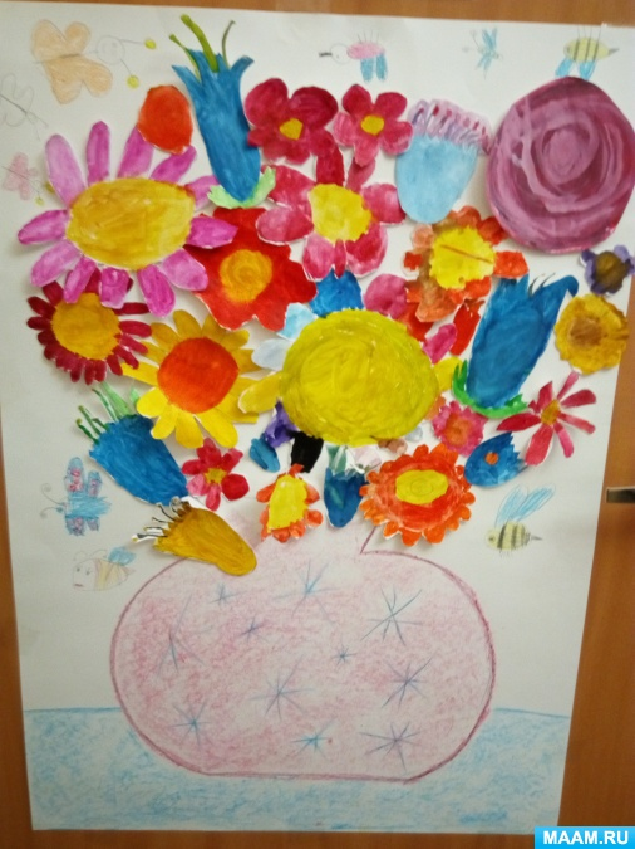 цветы в подготовительной группе