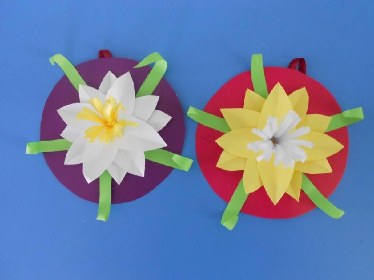 Детские поделки цветы 15
