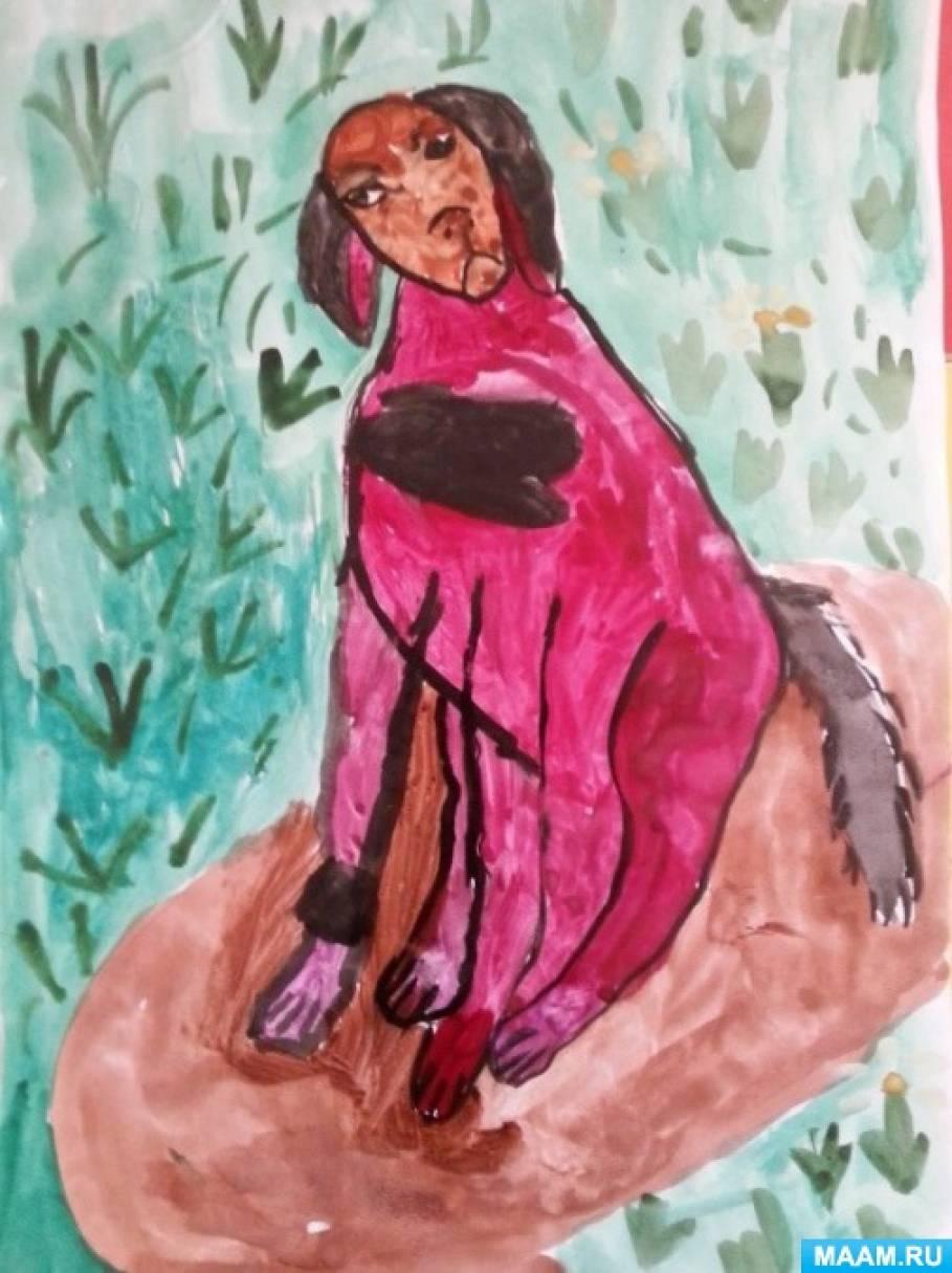 Фотоссесия детских рисунков, посвященных городу Воронежу (старшая группа)