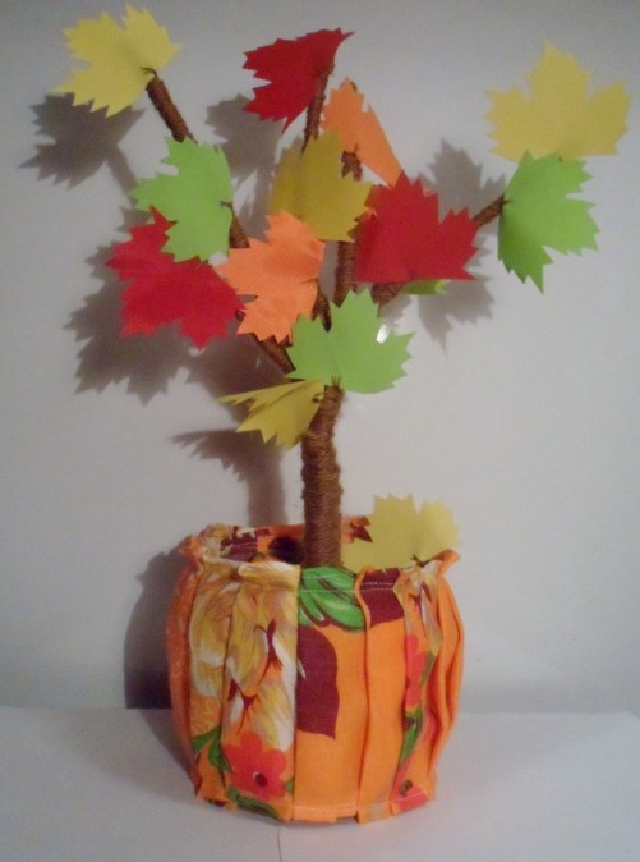 Поделка дерево осень руками пошагово 61