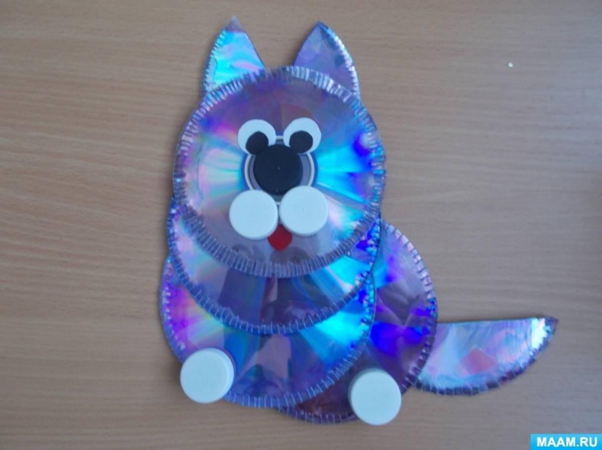Мастер-класс «Кот из дисков»