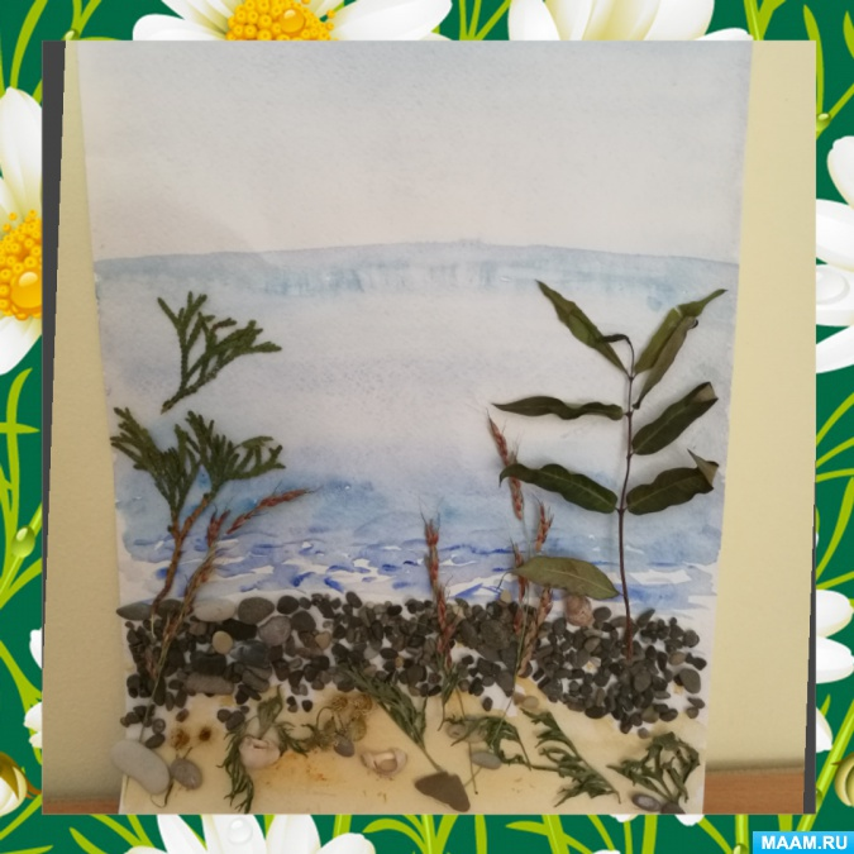 Фотоотчет «Выставка рисунков в старшей группе «Нарисуй море разными способами»